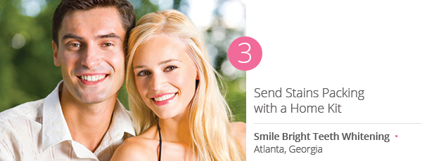 Send Stains Packing with a Home Kit from Smile Bright Teeth Whitening