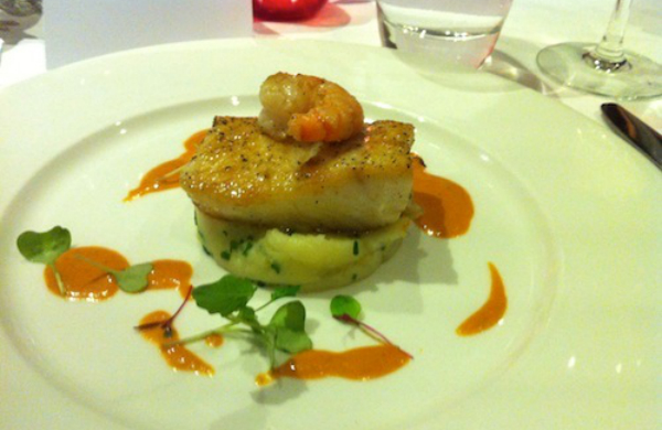 Halibut from Two Fat Ladies, Glasgow