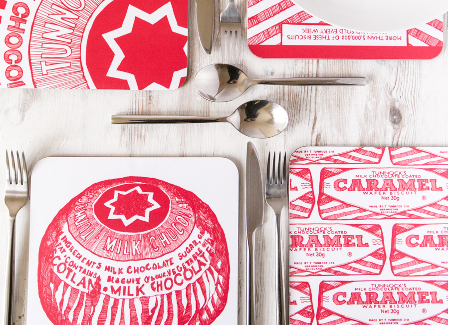 Tunnocks Teacakes Design Tableware by Gillian Kyle