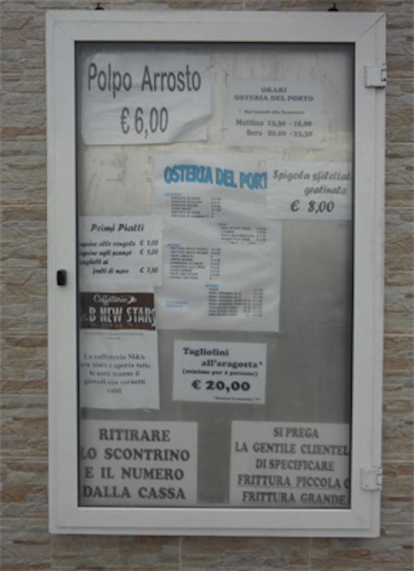 menu cooperativa bari