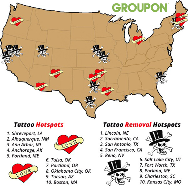 America\'s Top Cities for Tattoos—and Tattoo Removal