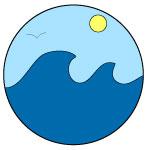 Beach badge 150c150