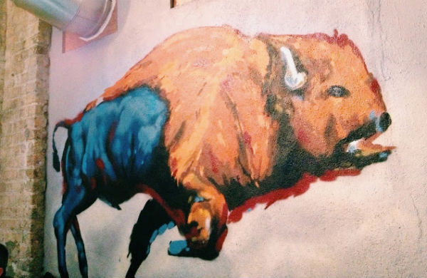 Painting of a bison in Bison in Dublin