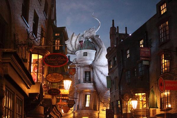 harry potter world tips wizarding world of harry potter Gringotts dragon
