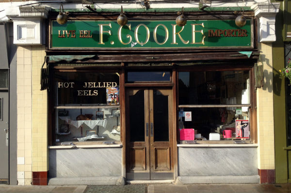 The exterior of F.Cooke in London