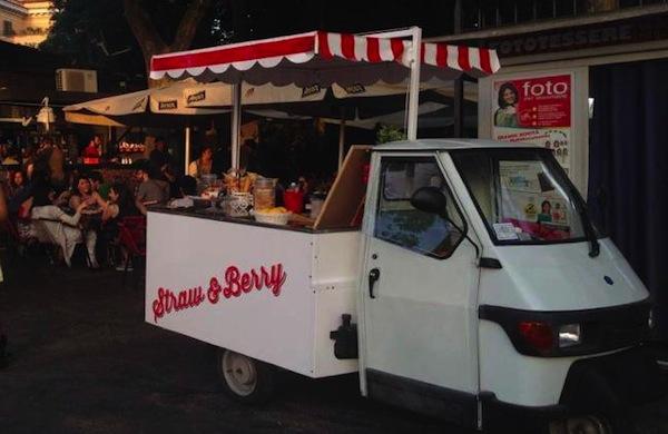 Straw & Berry, l'Ape estivo delle fragole a Roma