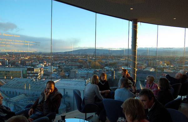 The gravity bar in the Guinness Storehouse