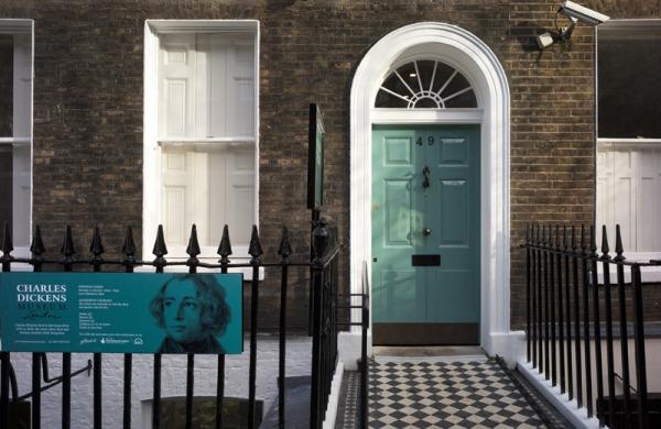Door of the Charles Dickens Museum London