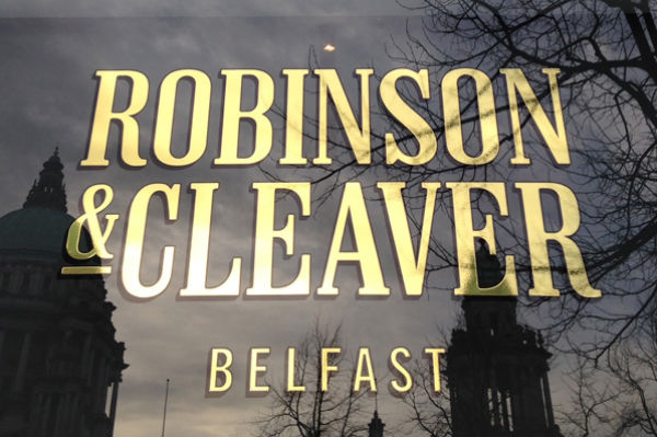 The Robinson and Cleaver Belfast logo