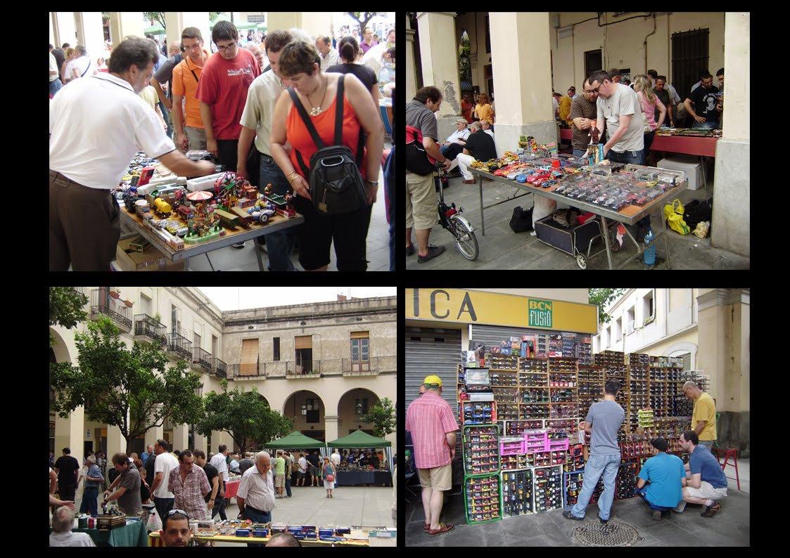 El mercadillo de juguetes antiguos en Barcelona
