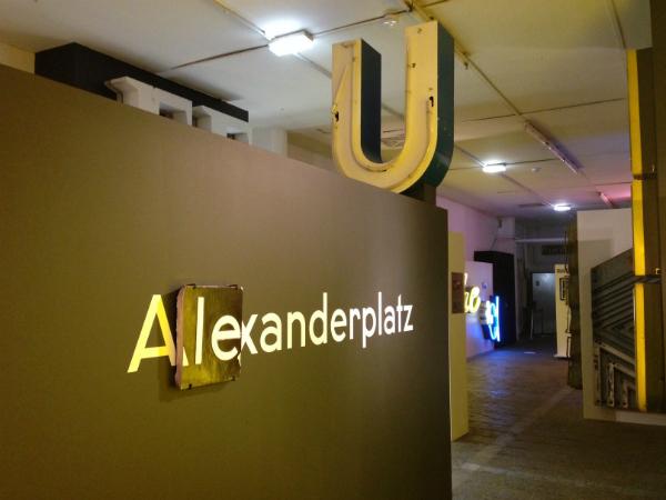 Exponat im Buchstabenmuseum Berlin