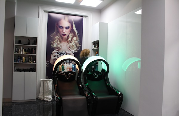 The interior of Guild Hair Salon in Chelsea London