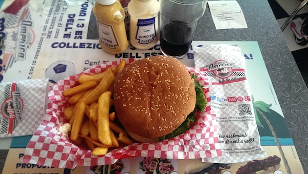 Hamburger menu American Graffiti