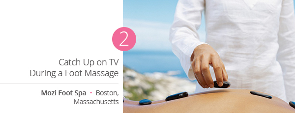 Catch Up on TV During a Foot Massage at Mozi Foot Spa