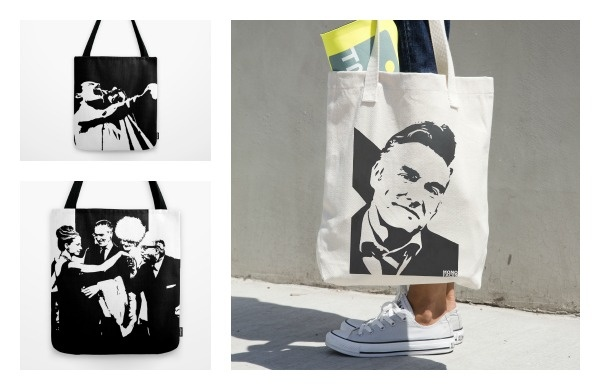 Monofaces tote bag
