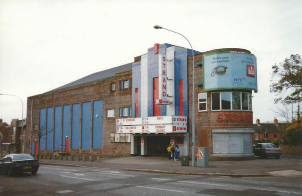 The outside of the strand cinema belfast in the 1990s