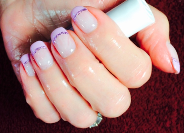 subtle french manicure