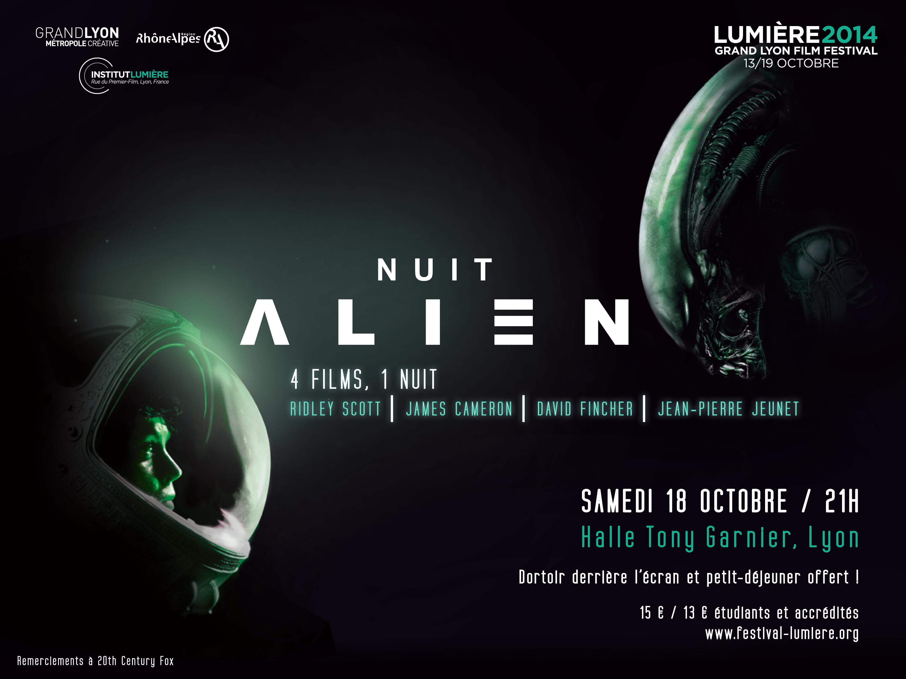 Nuit Alien Festival Lumière