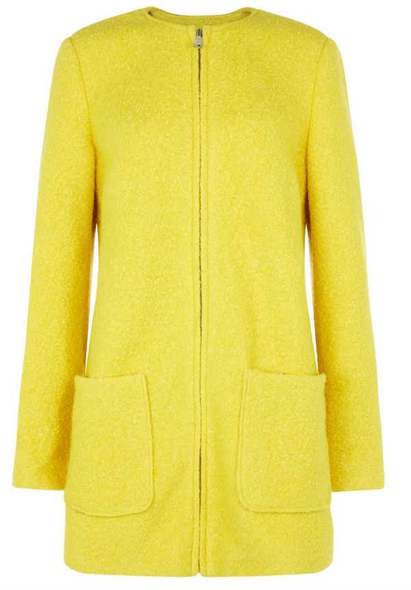 Yellow coat from New Look