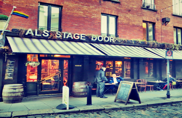Exterior of Al's Stage Door Cafe in Dublin
