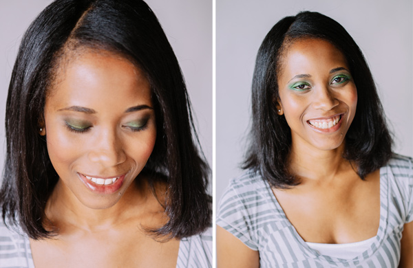 Two Ways to Wear Emerald Eye Shadows