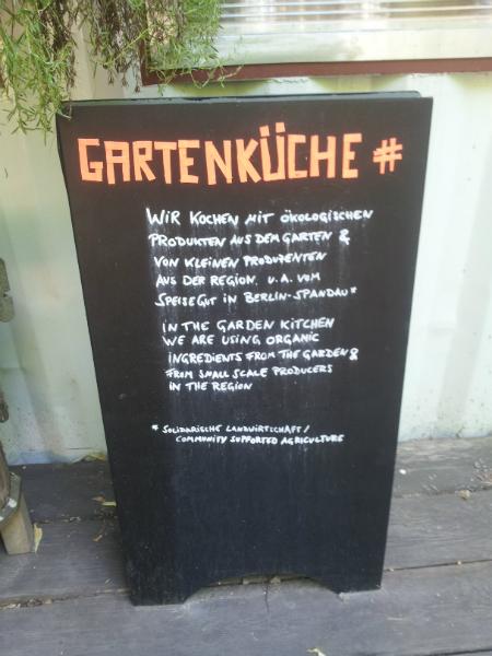 Prinzessinengärten Gartenküche Gartencafé Berlin