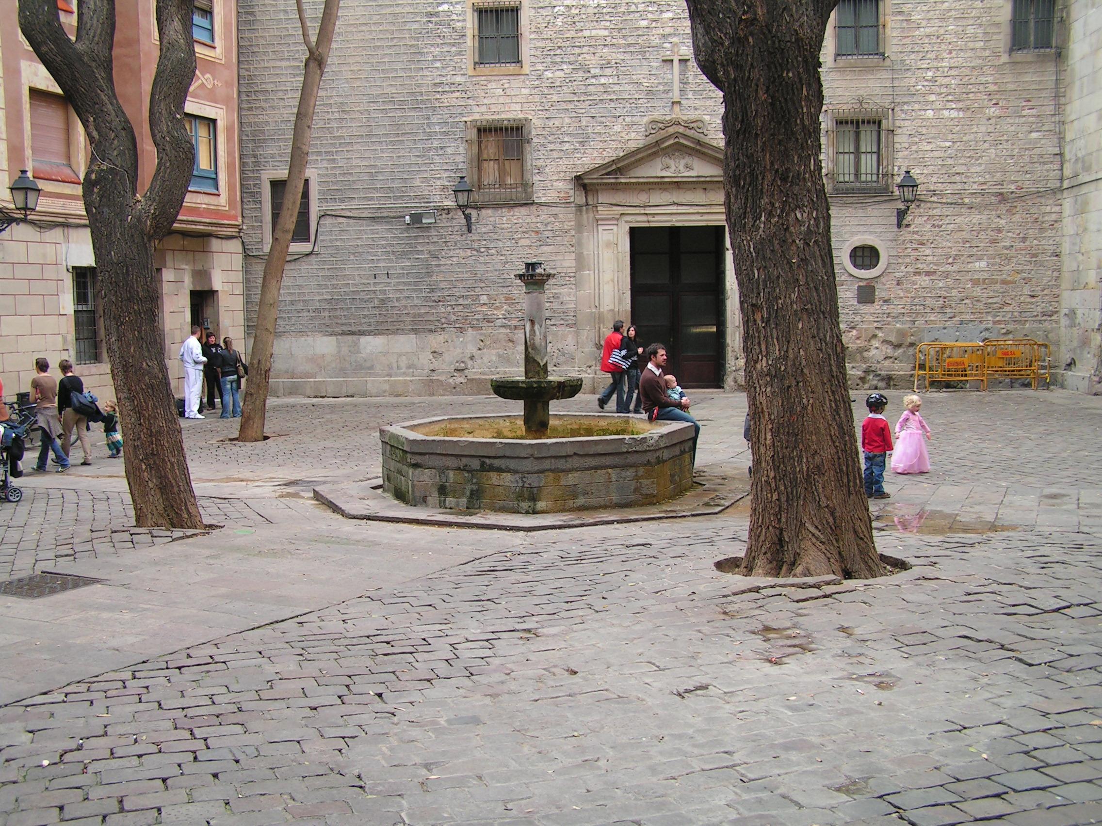 La plaza Sant Felip Neri de Barcelona