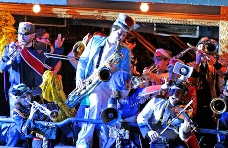Circus-Punk Marching Band Mucca Pazza Welcomes the New Year with Accordions and Amplified Speakers