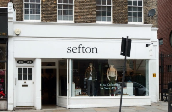 Sefton men's clothes shop London