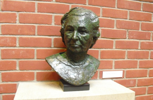 The bust of Mary O'Malley