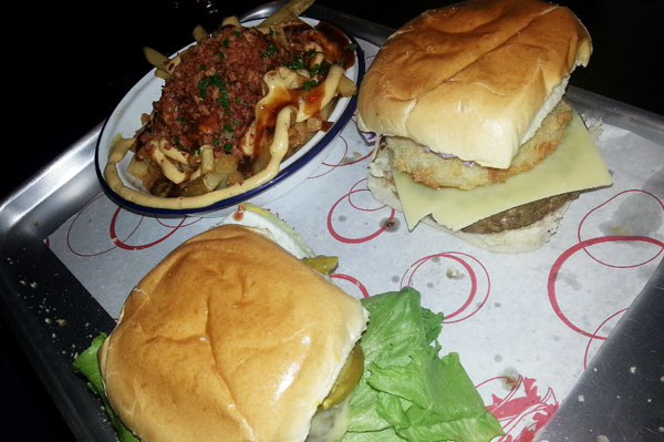 The Pig Out Burger at Alley Cat in Belfast
