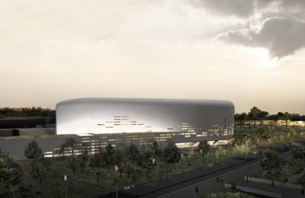 L'Arena, la future salle de spectacle près de Bordeaux