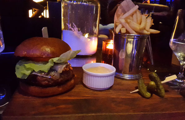 Burgers and Cocktails at The Playboy Club