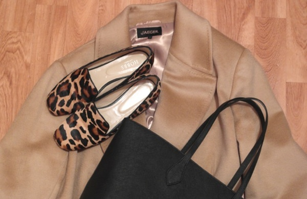 coat and bag and shoes