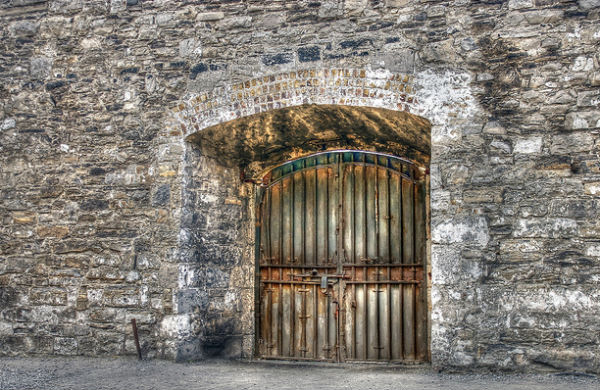 A gate at Kilmainham Gaol Dublin