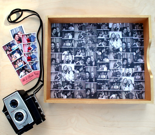 How to Turn Photo-Booth Strips Into a Decorative Tray