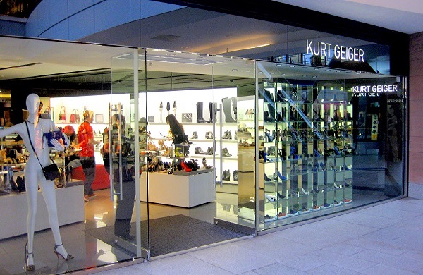 The exterior of the Kurt Geiger shoe shop in Belfast
