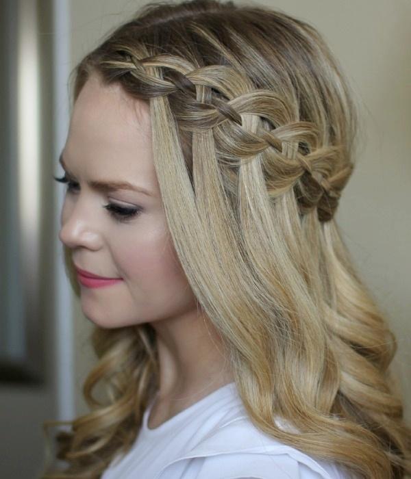 Waterfall Braided Hairstyle