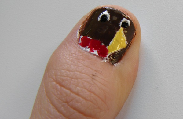 Miss Making Hand Turkeys Try This Nail Art
