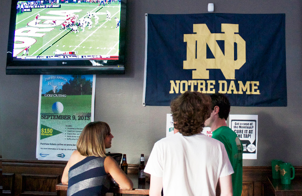 Watching Notre Dame Football at Wrightwood Tap in Lincoln Park