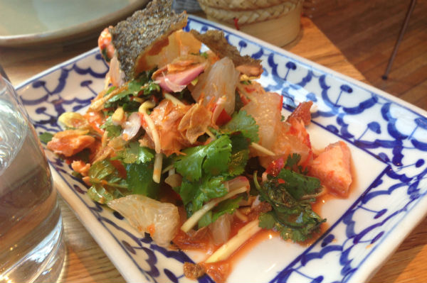 Best Thai Restaurants in London - Trout salad at Begging Bowl Thai Restaurant in London