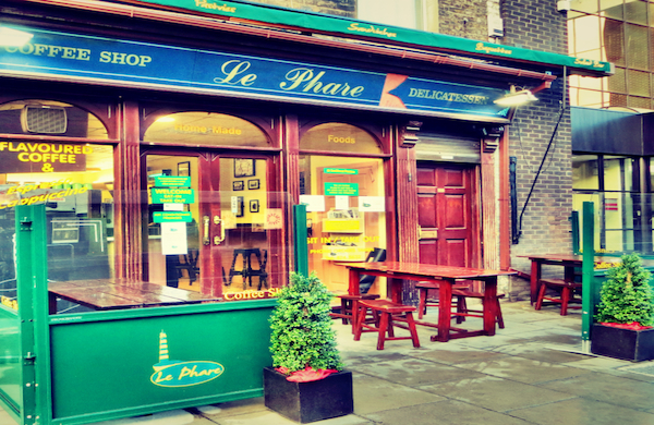 Exterior of Le Phare Coffee Shop in Dublin