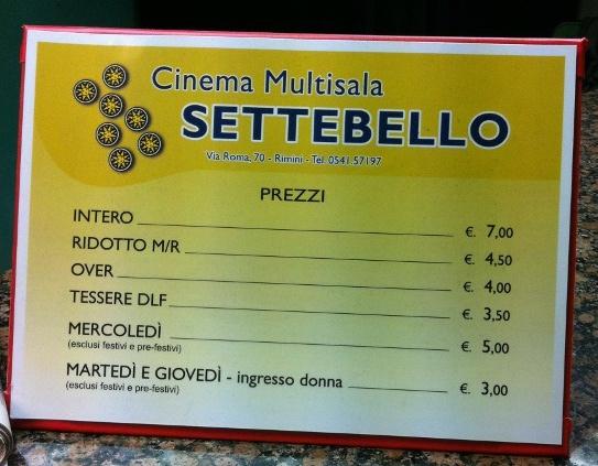 cinema settebello