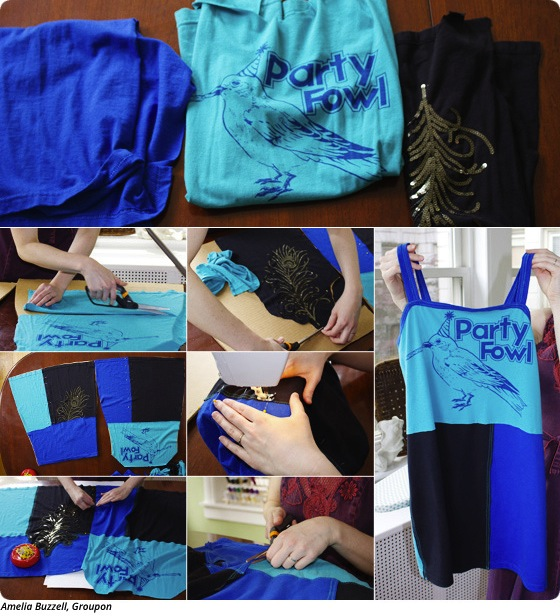 DIY: Upcycle Old T-Shirts into a Nightgown