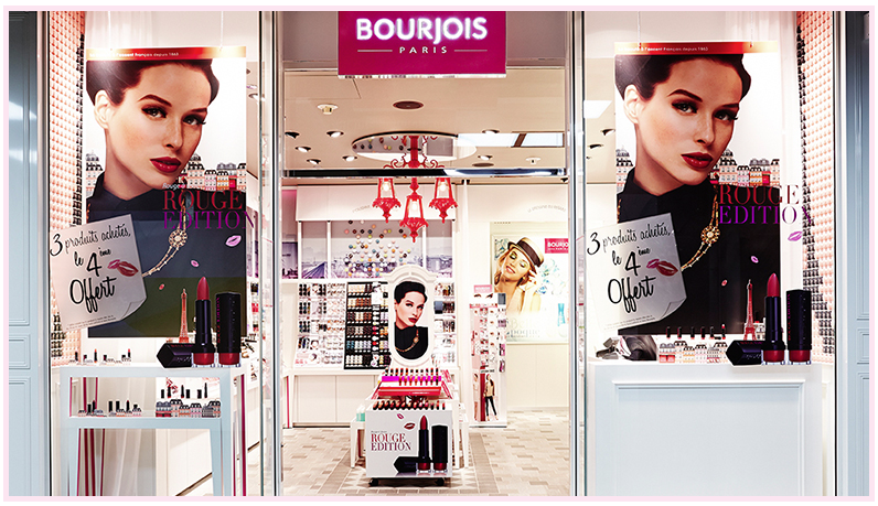 Bourjois, la deuxième boutique ouvre au Forum des Halles