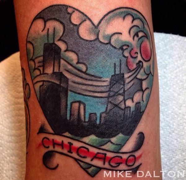 chicago skyline tattoo