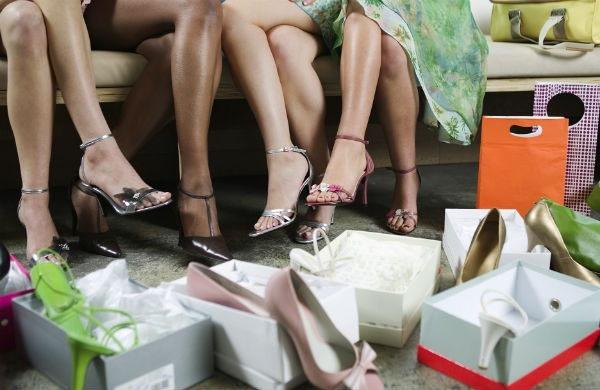 shoe shopping in the Christmas sales