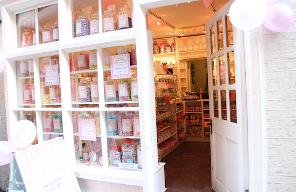 The entrance to Mrs Kibble's Olde Sweet Shoppe