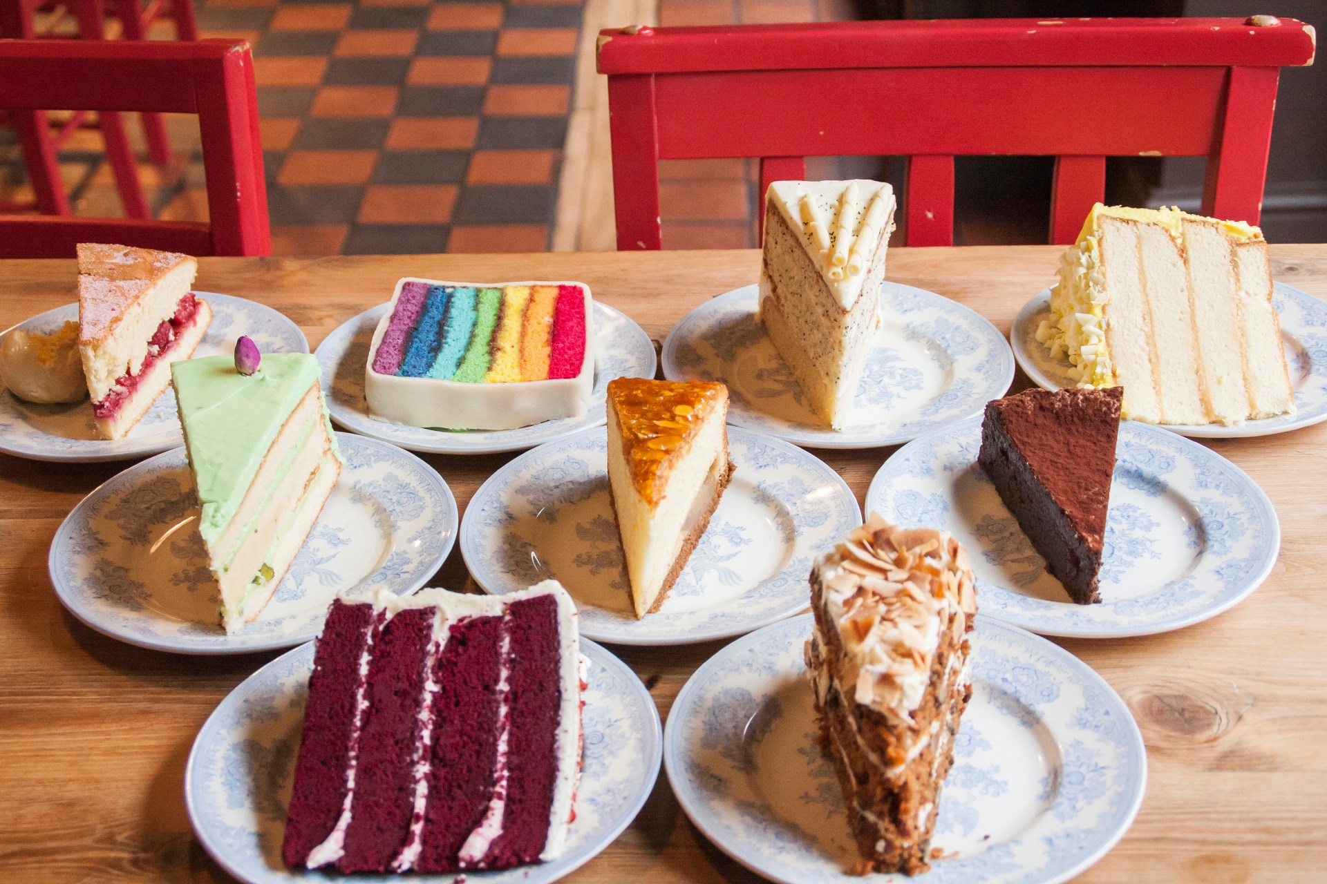 cakes from teacup, Manchester