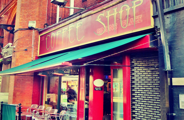 Exterior of Simon's Place Coffee Shop in Dublin